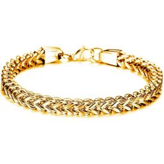 Prime Leader Fashion Jewelry Pure Stainelss Steel Chain Men' Bracelet Cuban Link Curb Biker Wristband,Gold >>> Trust me, this is great! Click the image. : Gift for Guys