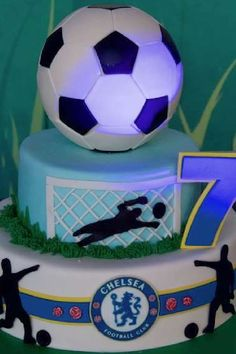Check out this fun soccer themed birthday party! The cake is fantastic! See more party ideas and share yours at CatchMyParty.com #catchmyparty #partyideas #soccer #soccerparty #football #boybirthdayparty #cake Soccer Birthday Parties, Soccer Party, Birthday Party Themes, Birthday Cake, Bridal Shower Cakes, Baby Shower Cakes, Rustic Cake, Holiday Cakes, Gorgeous Cakes