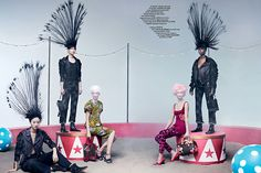 'The Greatest Show' by Maurizio Bavutti for CR Fashion Book S/S 2014 | The Fashionography