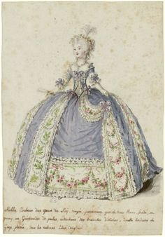The artist has created an impression of actual depth harkening back to the era of robes volant in the early post-Louis XIV era - this is not a waffle dress.