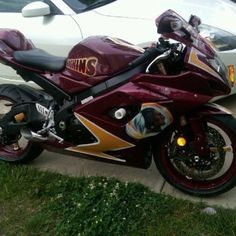 Life is good when you see Redskins motorcycle paint job!