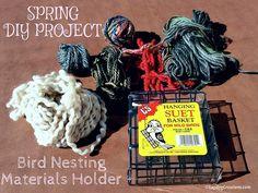 Spring DIY Project - Bird Nesting Materials Holder #wildlife #birds #LapdogCreations ©LapdogCreations