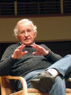 """Chomsky: """"Take, say, physics, which restricts itself to extremely simple questions. If a molecule becomes too complex, they hand it over to the chemists. If it becomes too complex for them, they hand it to biologists. And if the system is too complex for them, they hand it to psychologists ... and so on until it ends up in the hands of historians or novelists. As you deal with more and more complex systems, it becomes harder and harder to find deep and interesting properties."""""""