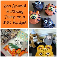 Zoo Animal Birthday Party on a $50 budget - easy DIY ideas to pull off a great kids' party