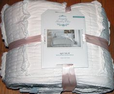 twin simply shabby chic vintage cottage white ruffle quilt set rachel ashwell