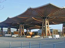 wooden roof world fair 2000
