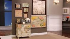 dresser with map. maybe decopage? Decoupage Furniture, Painted Furniture, Diy Furniture, Decoupage Dresser, Decoupage Art, Diy Interior, Interior Design, Interior Decorating, Apartment Therapy