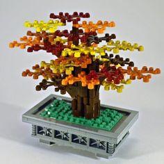 Eads Bridge Lego Tree, Lego Trains, Cool Lego Creations, Bonsai, Bridge, Decorative Boxes, Trees, Fall, Plants