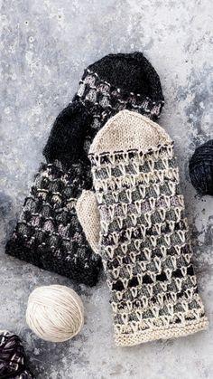 Lapaset jämälangasta | Meillä kotona Knitted Mittens Pattern, Knit Mittens, Knitted Gloves, Knitting Patterns, Free Knitting, Knitting Socks, Wool Socks, Fingerless Mittens, Wrist Warmers