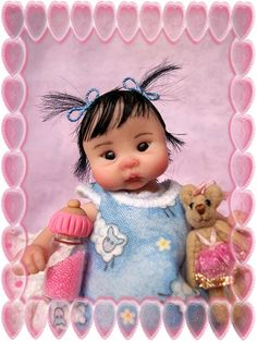 "❤OOAK HAND SCULPTED ASIAN BABY GIRL ""PING""   BY: JONI INLOW* DOLLY-STREET❤"