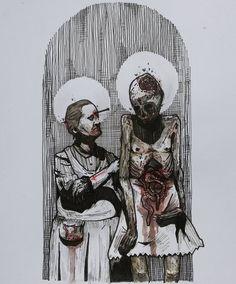 VIII-XII #void#666#dark#darkart#death#fear #terror#rotten#sick#decay#parasite  #nightmare#evil#hell#demons#black #kvlt#occult#ritual#brutal#occvlt_art  #blackmetalart#korpusinteriora#popeofhell_art #armyofarts#onlythedarkest#brutsubmission #artforthesick#lifeformdrawingclub  #disemboweled @lifeform.co