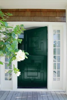 Front Entrance Ideas Inspiration Benjamin Moore S Forest Green 2047 10 Via