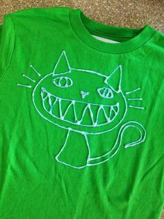 Little Bit Funky: 20 minute crafter {how to make a bleach pen shirt}