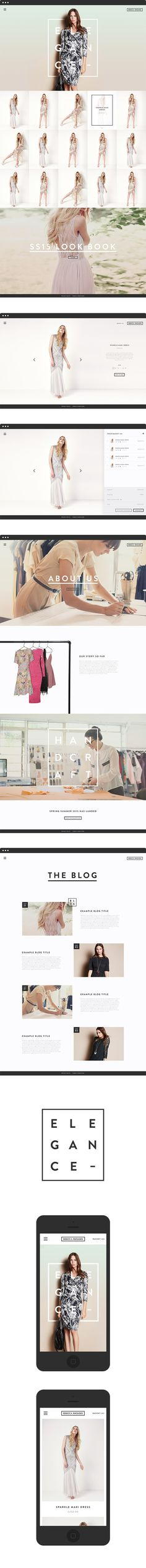 A minimal e-commerce website for fashion designer Rebecca Rhoades by Oliver Harris