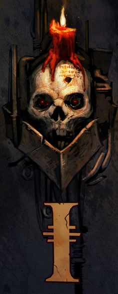 "digital-art-archive: ""40k Skull Sketchby David-Kegg """