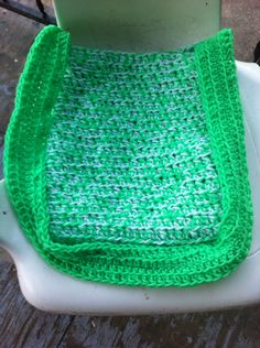 Lime green and white small hand bag