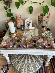 Thought you guys might enjoy my freshly cleaned alter space : Crystals Meditation Room Decor, Meditation Corner, Meditation Space, Witch Room, Spiritual Decor, Wiccan Decor, Deco Studio, Hippy Room, Indie Room