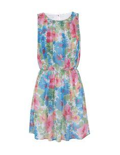 Vestido Plisado Estampado Flores