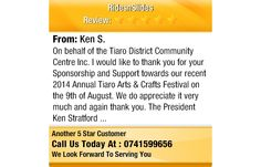 On behalf of the Tiaro District Community Centre Inc. I would like to thank you for your...