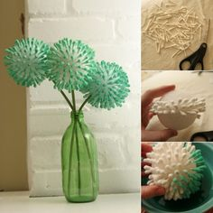 Craft these Stunning Flowers with Q-tips