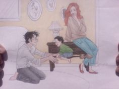 The Potter Family-Burdge Harry And Ginny, Harry James Potter, Harry Potter Books, Harry Potter Fan Art, Harry Potter Universal, Harry Potter Fandom, Harry Potter World, Harry Potter Memes, Harry Harry