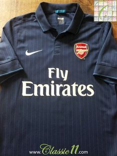 e3f54f91428 Relive Arsenal s 2009 2010 season with this original Nike away football  shirt. Arsenal Football