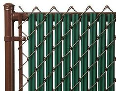 details about chain link green single wall ridged privacy slat for 4ft high fence bottom lock