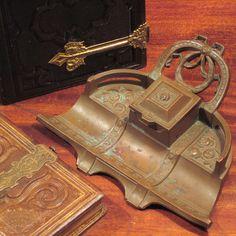 Art Nouveau Bronze Inkwell