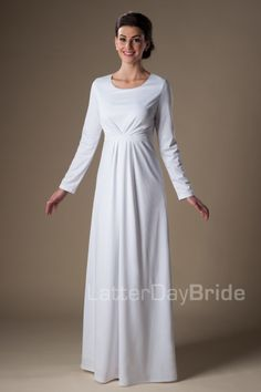 Nauvoo | LDS Temple Dress | Modest | LatterDayBride | SLC | UT | Salt Lake City | Utah | Worldwide Shipping |