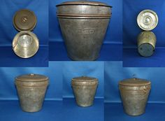 Rare Antique Primitive Hillson Tin Pudding by KattsCurioCabinet Old Kitchen, Country Kitchen, Pail Bucket, Kitchen Collection, Small Rings, Mold Making, Rare Antique, Vintage Antiques, Primitive