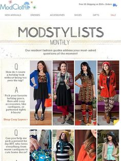 Seasonal style & gift tips + a special sale - all from the ModStylists! - Modcloth