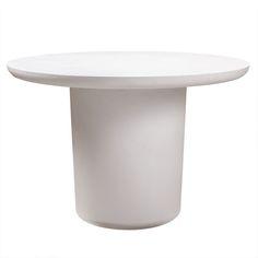 TOV Furniture Modern Roxie Ivory Concrete Dining Table - TOV-O44066 – Minimal & Modern