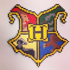 Harry Potter Hogwarts Crest perler beads by ideohobby