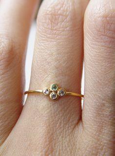Emerald Topaz Ring Gold Filled OOAK by friedasophie on Etsy
