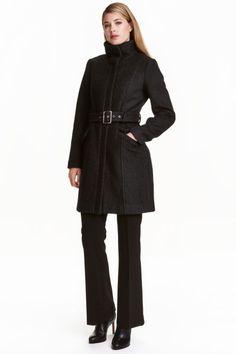 Abrigo corto en mezcla de lana