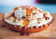 Banana Cream Pie with Salty Bourbon Caramel, by Ashley Christensen, via Bon Appétit magazine.