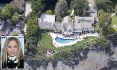 """""""You too Babs? Despite being an advocate for energy conservation, Barbra Streisand's beach-side home in Malibu appears green as ever """" -  5/11/15"""