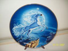 Mystical Moon Diamond Unicorn Plate