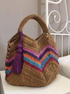 Ideas Crochet Purse Handles Granny Squares For 2019 Crochet Diy, Crochet Tote, Crochet Handbags, Crochet Purses, Pixel Crochet, Crochet Granny, Diy Bags Purses, Purses And Handbags, Sacs Tote Bags