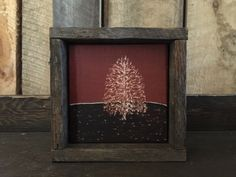 Rustic Home Decor - Engraved Art - Cabin Decor - Primitive Art - Minimalist Decor - Rustic Art - Framed Art - Mantel Decor - Tree - Aspen