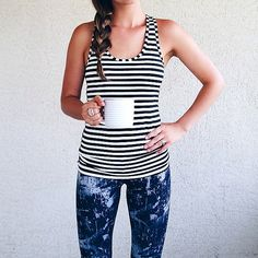 We love this workout/wear-out outfit @thislittlelovesong put together. Perfect for a busy day!