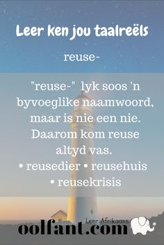 Afrikaanse taalreëls | Leer Afrikaans | reuse kom altyd vas Career Quotes, Success Quotes, Wisdom Quotes, Life Quotes, Quotes Quotes, Afrikaans Language, Afrikaanse Quotes, Language Quotes, Self Improvement Quotes