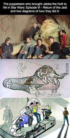Funny pictures about The Magic Behind Jabba The Hutt. Oh, and cool pics about The Magic Behind Jabba The Hutt. Also, The Magic Behind Jabba The Hutt photos. Star Wars Facts, Star Wars Humor, Stargate, Maquette Star Wars, Arte Nerd, Jabba The Hutt, Star Wars Pictures, Clone Wars, Science Fiction