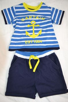 Clothes, Shoes & Accessories Mini Boden Boy's New Stripy Jersey Polo T-shirt Ecru Cotton 1.5-12 years new Baby