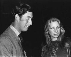 majesticdelight:  Prince of Wales and Barbra Streisand, 1970s