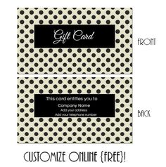 free printable gift card templates that can be customized online instant download you can