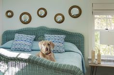 turquoise bed | Martha's Vineyard Interior Design