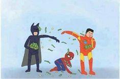 la vida del pobre y humilde spiderman :)