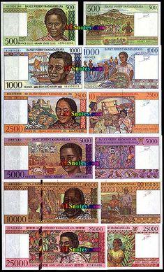 madagascar cuency   ... - Madagascar paper money catalog and Madagascar currency history