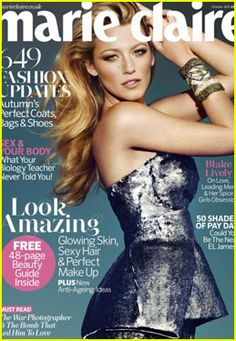 Blake Lively on Marie Claire UK, October 2012 #BlakeLively #MarieClaire